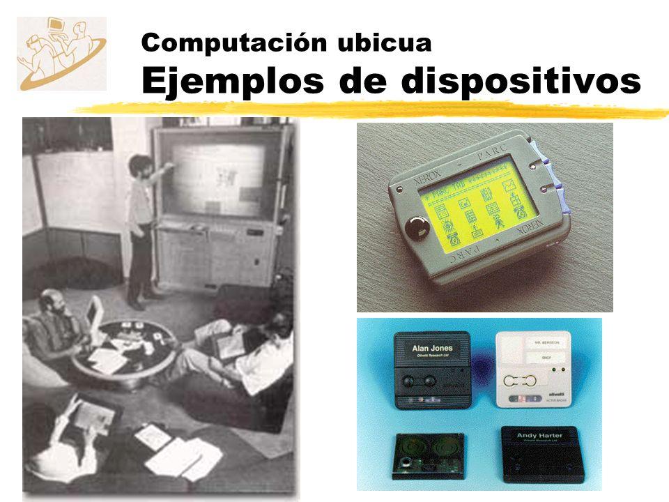 Computación ubicua Ejemplos de dispositivos