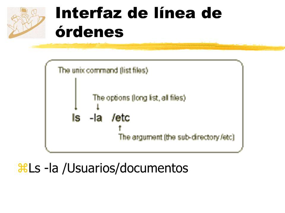Interfaz de línea de órdenes