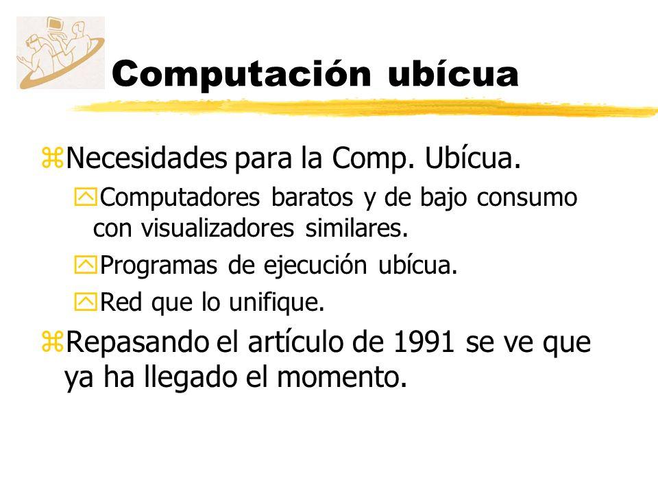 Computación ubícua Necesidades para la Comp. Ubícua.