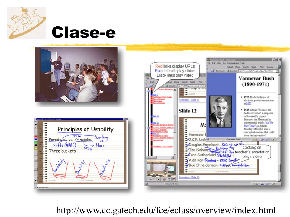 Clase-e http://www.cc.gatech.edu/fce/eclass/overview/index.html