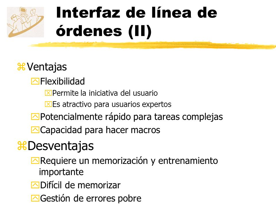 Interfaz de línea de órdenes (II)