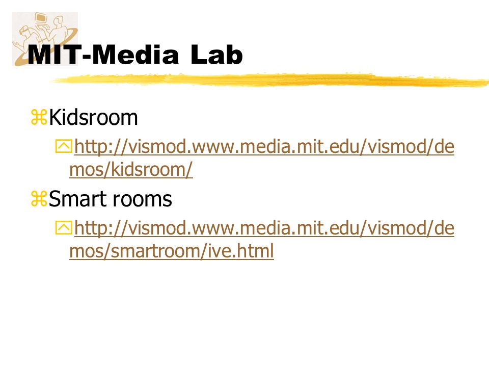 MIT-Media Lab Kidsroom Smart rooms