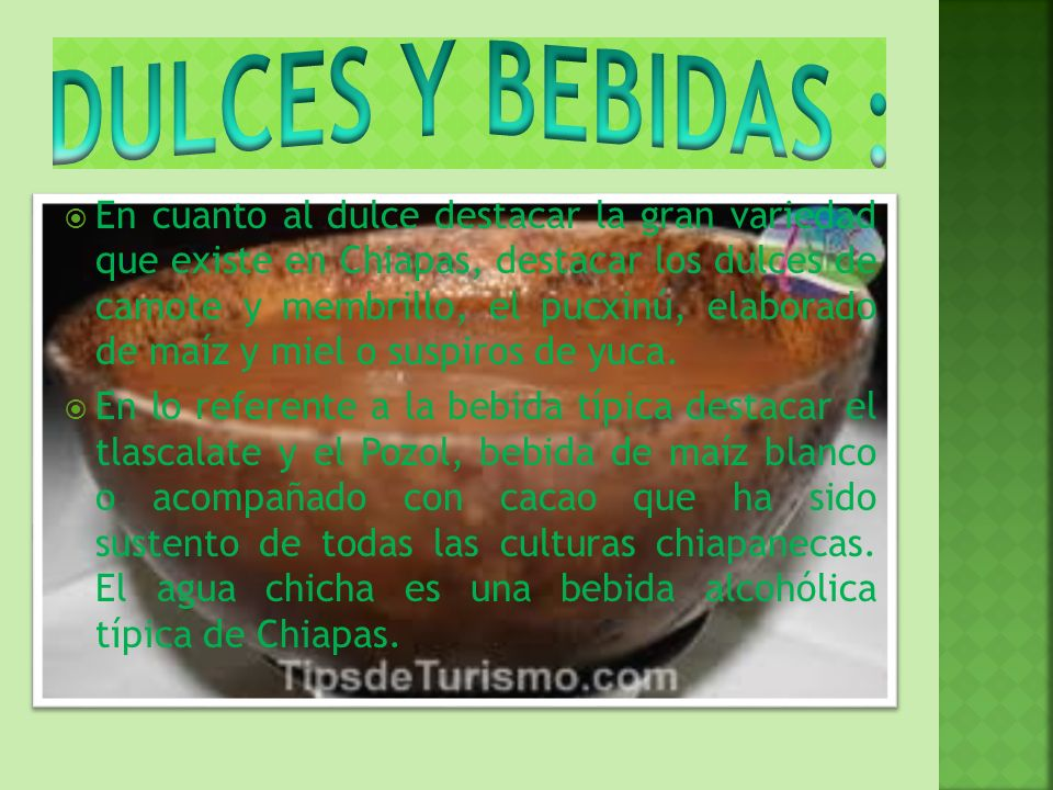 DULCES Y BEBIDAS :