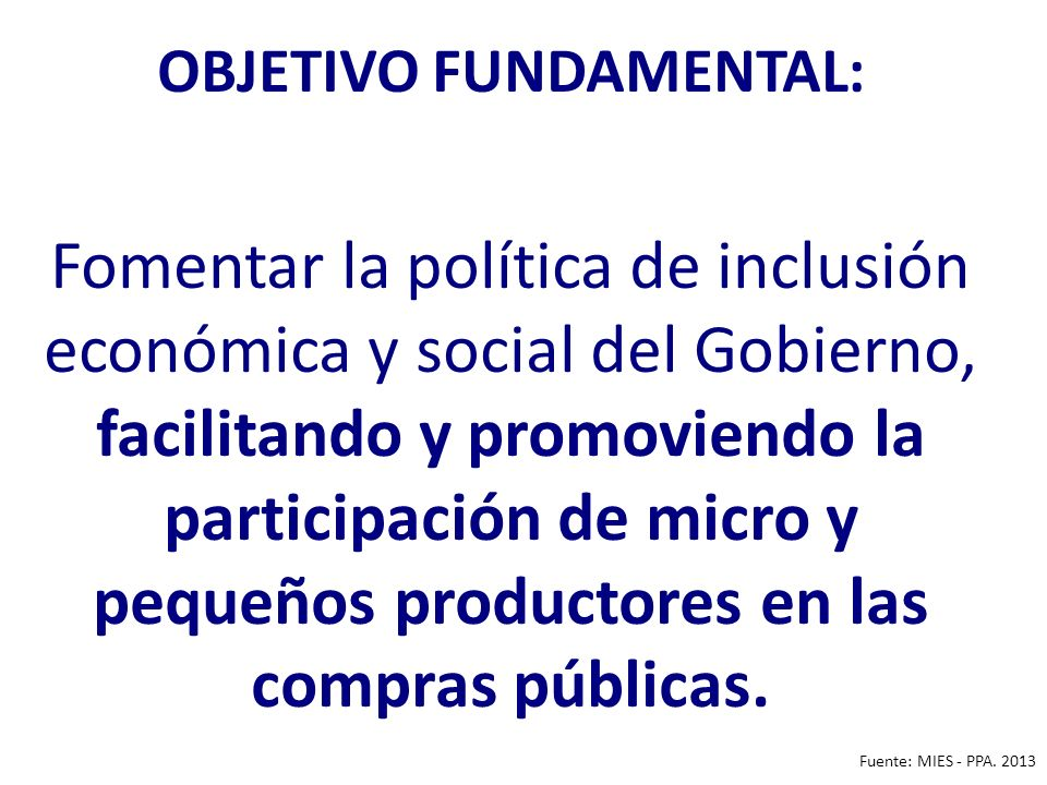 OBJETIVO FUNDAMENTAL: