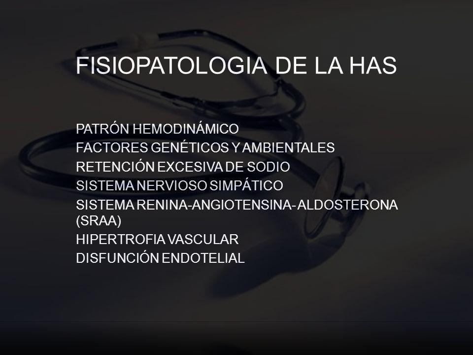 FISIOPATOLOGIA DE LA HAS