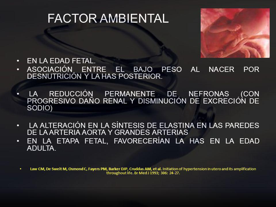 FACTOR AMBIENTAL EN LA EDAD FETAL.
