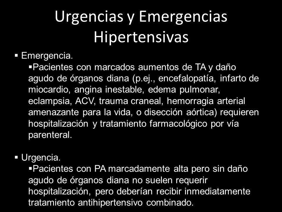 Urgencias y Emergencias Hipertensivas