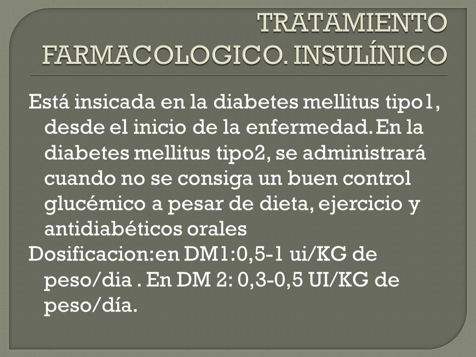TRATAMIENTO FARMACOLOGICO. INSULÍNICO