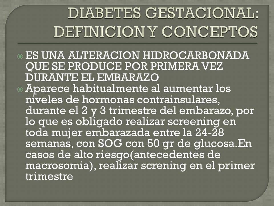 DIABETES GESTACIONAL: DEFINICION Y CONCEPTOS