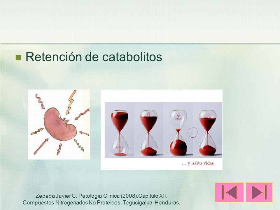 Retención de catabolitos