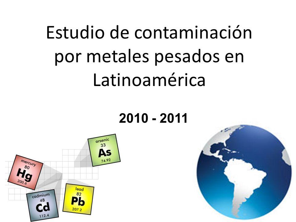 Estudio de contaminación por metales pesados en Latinoamérica