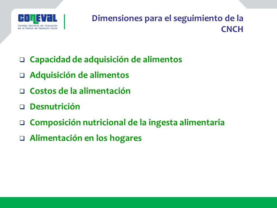Dimensiones para el seguimiento de la CNCH