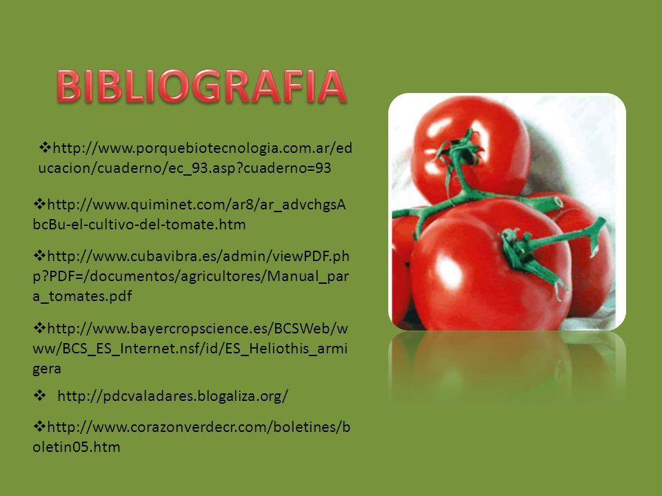 BIBLIOGRAFIA http://www.porquebiotecnologia.com.ar/educacion/cuaderno/ec_93.asp cuaderno=93.