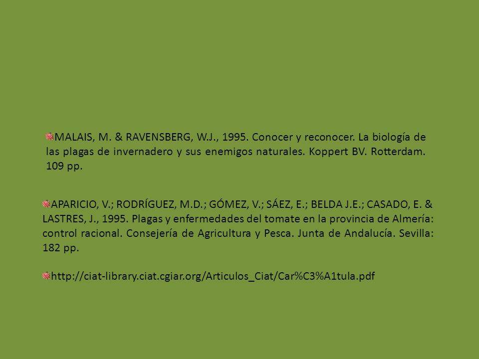 MALAIS, M. & RAVENSBERG, W. J. , 1995. Conocer y reconocer