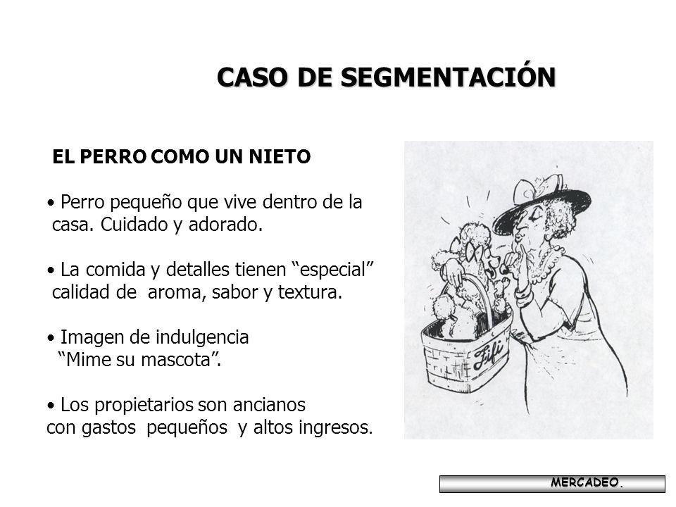CASO DE SEGMENTACIÓN EL PERRO COMO UN NIETO