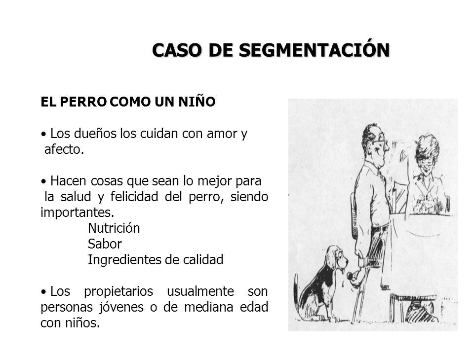 CASO DE SEGMENTACIÓN EL PERRO COMO UN NIÑO