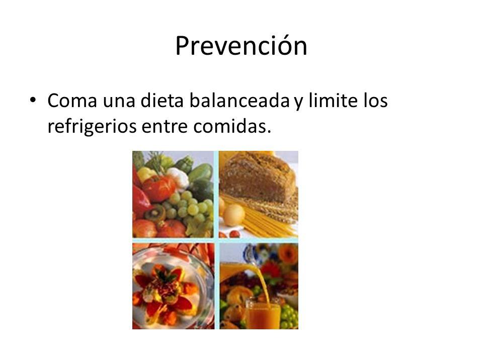 Prevención Coma una dieta balanceada y limite los refrigerios entre comidas.