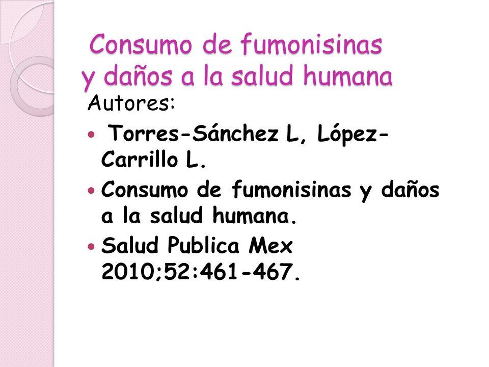 Consumo de fumonisinas y daños a la salud humana