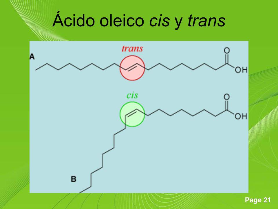 Ácido oleico cis y trans