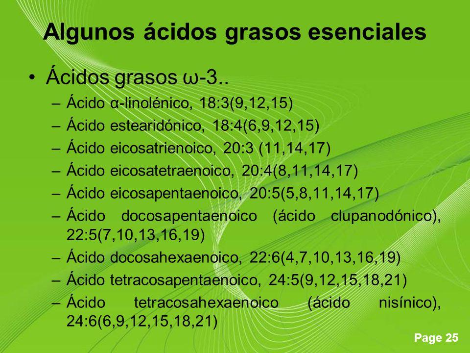 Algunos ácidos grasos esenciales