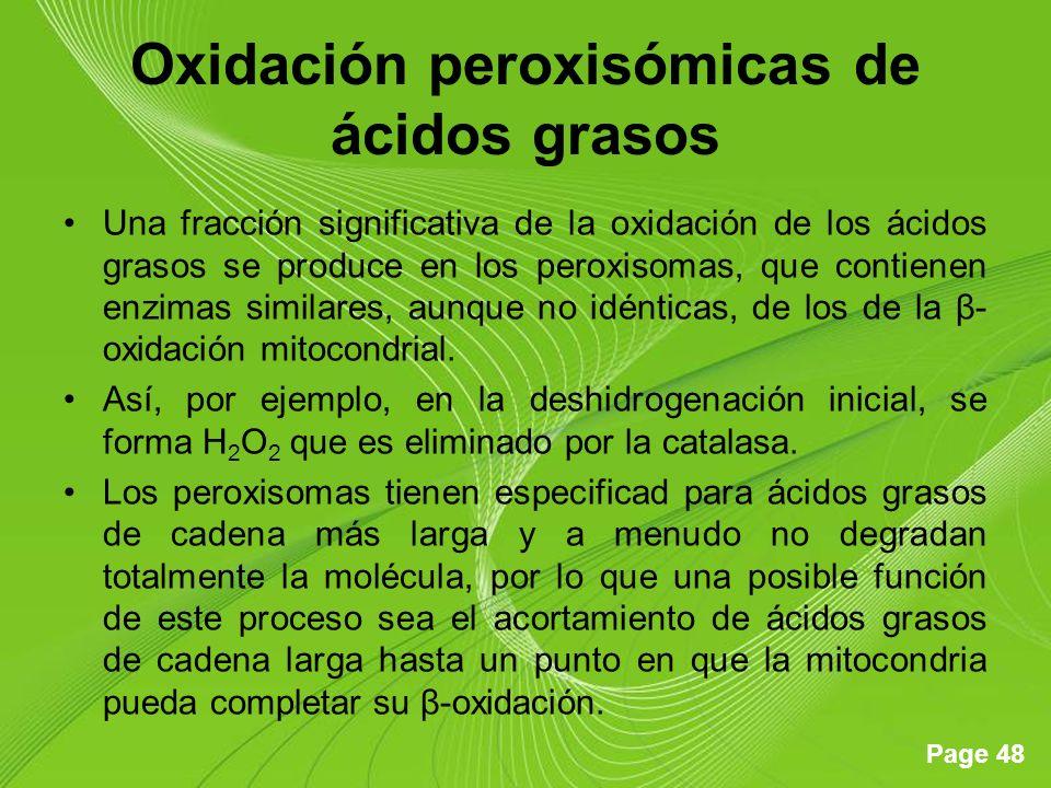 Oxidación peroxisómicas de ácidos grasos