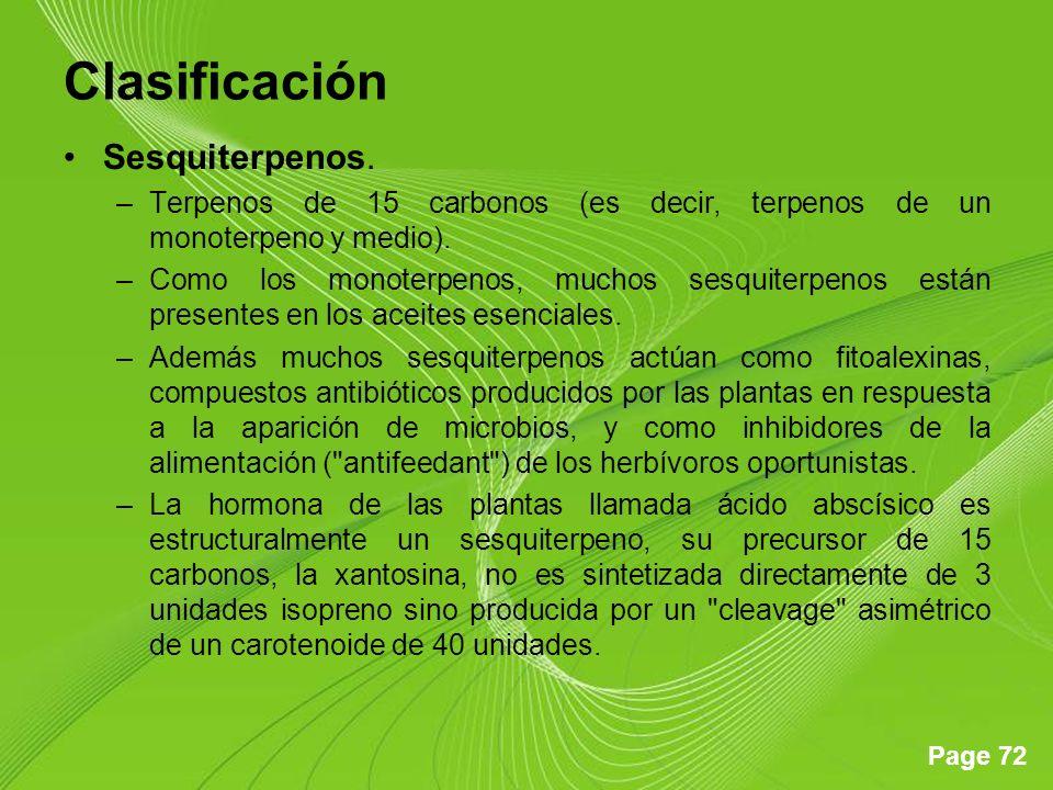 Clasificación Sesquiterpenos.