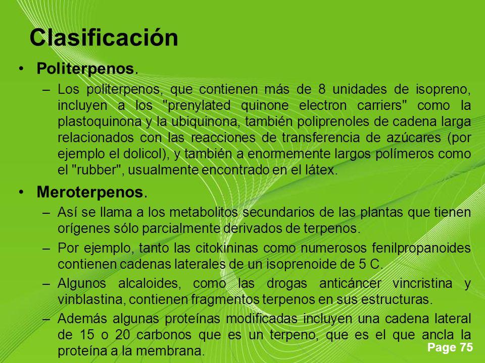 Clasificación Politerpenos. Meroterpenos.