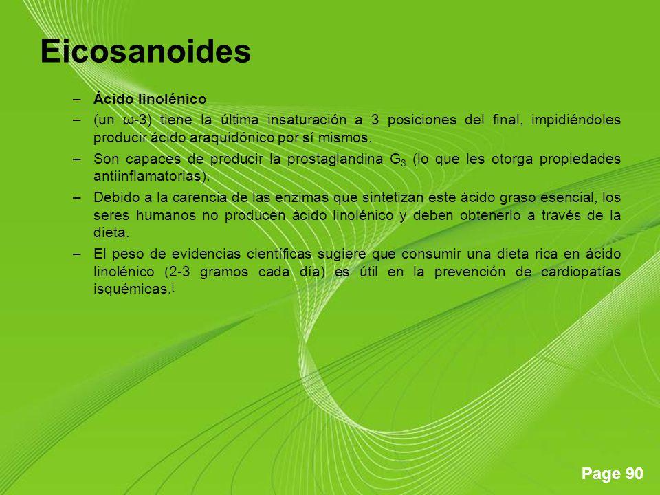 Eicosanoides Ácido linolénico