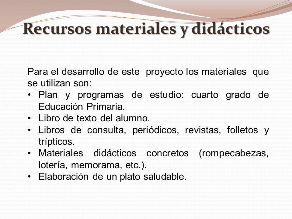 Recursos materiales y didácticos