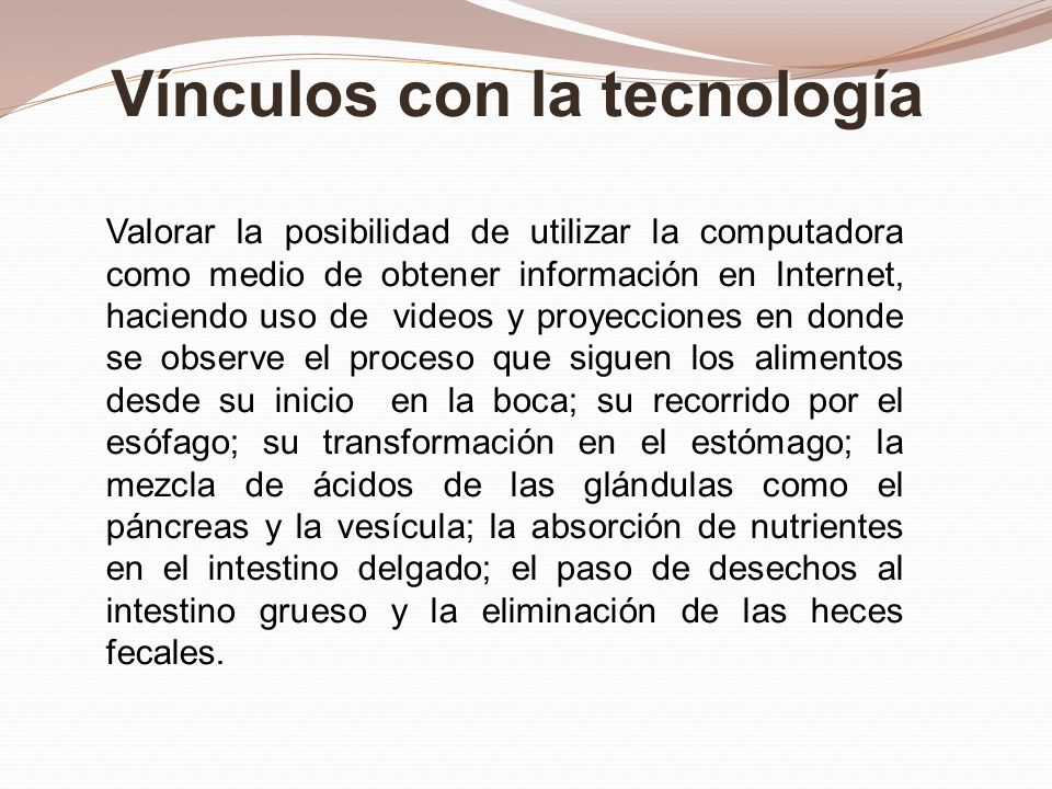 Vínculos con la tecnología