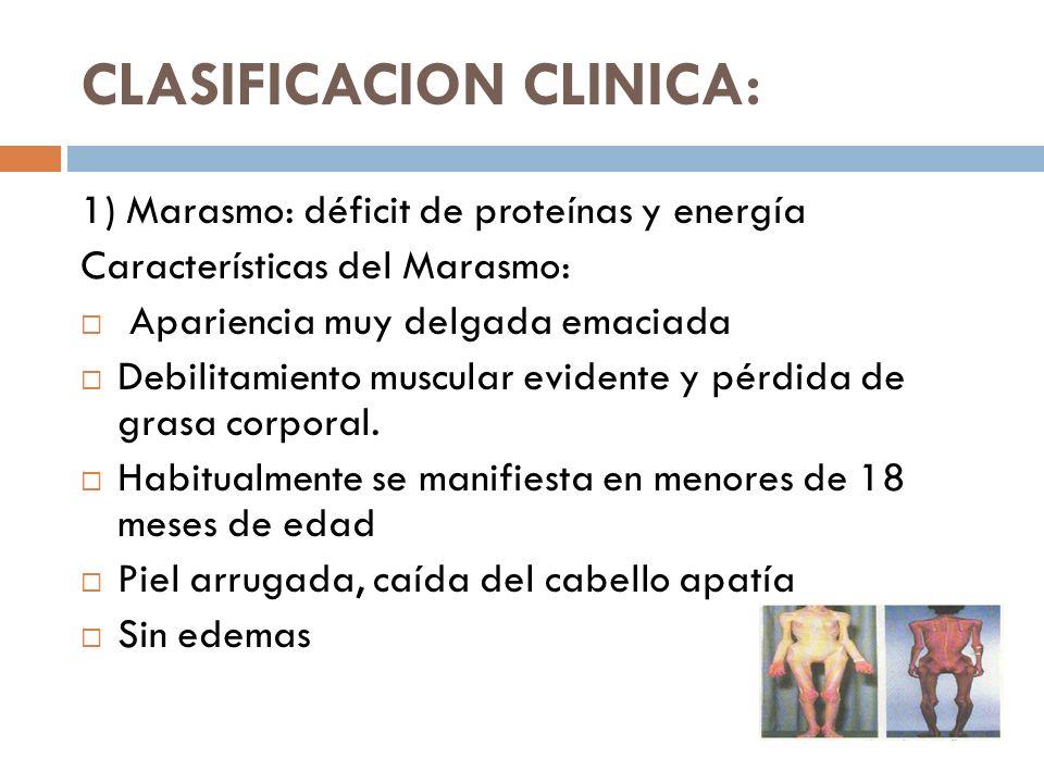 CLASIFICACION CLINICA: