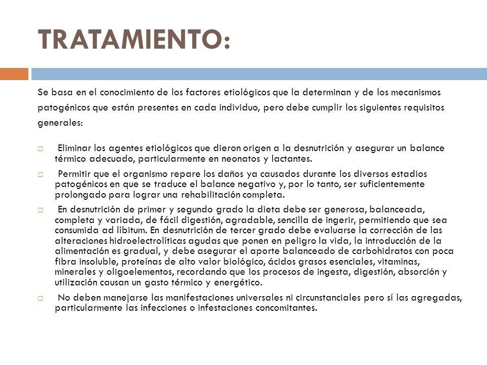 TRATAMIENTO: Se basa en el conocimiento de los factores etiológicos que la determinan y de los mecanismos.