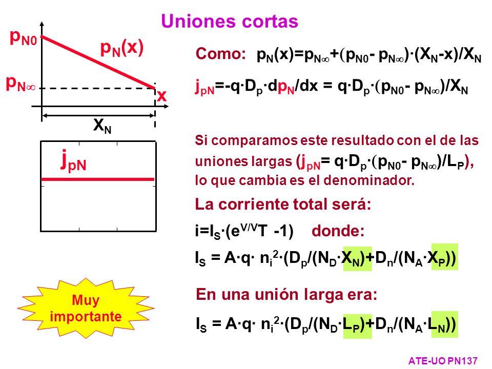 jpN Uniones cortas pN0 pN(x) pN x