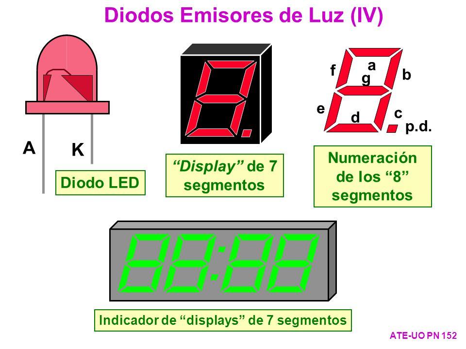 Display de 7 segmentos Numeración de los 8 segmentos