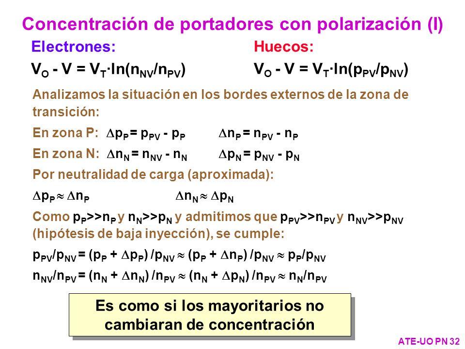 Concentración de portadores con polarización (I)
