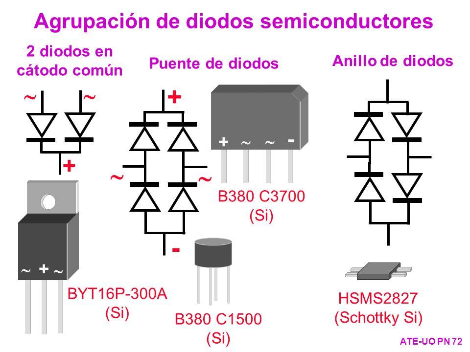 + ~ - Agrupación de diodos semiconductores ~ +