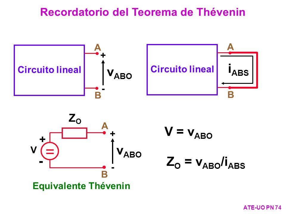 Recordatorio del Teorema de Thévenin