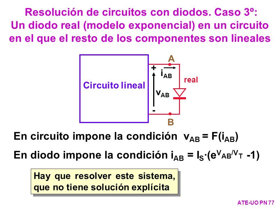 Resolución de circuitos con diodos. Caso 3º: