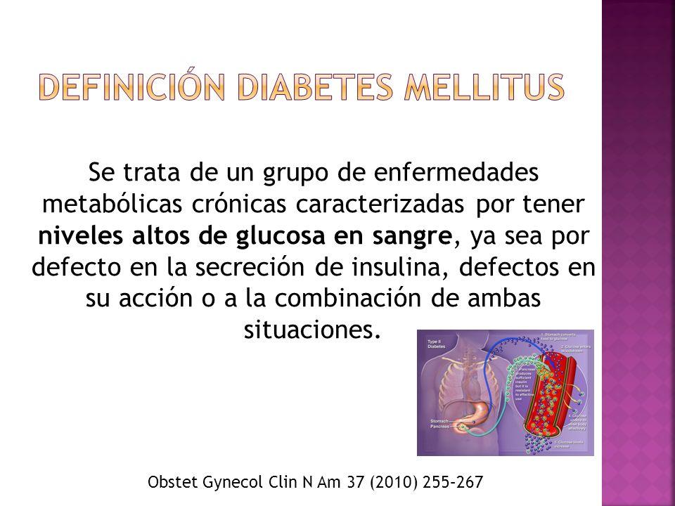 Definición Diabetes Mellitus