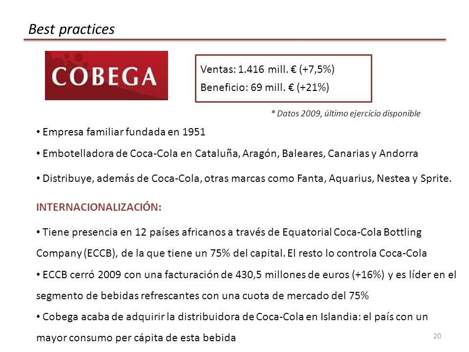 Best practices Ventas: 1.416 mill. € (+7,5%)