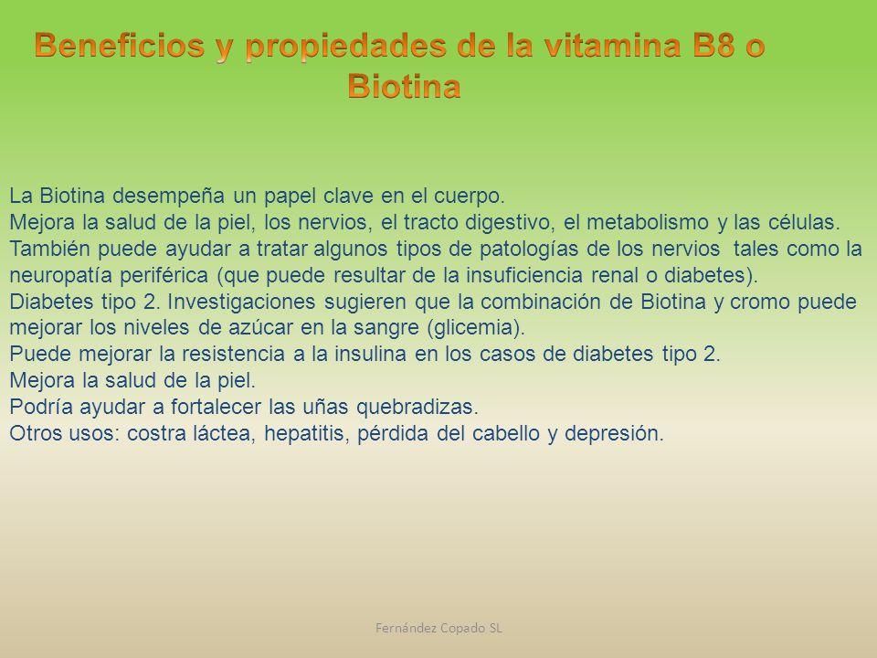 Beneficios y propiedades de la vitamina B8 o