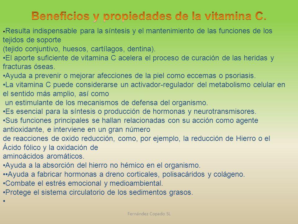 Beneficios y propiedades de la vitamina C.
