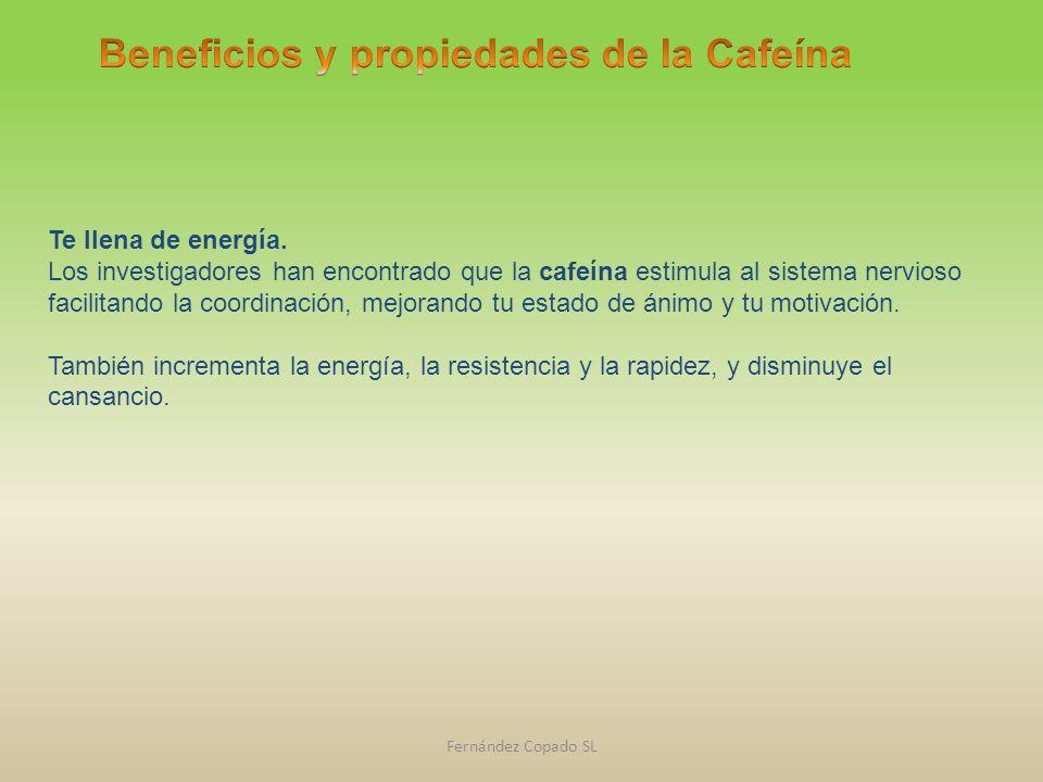 Beneficios y propiedades de la Cafeína