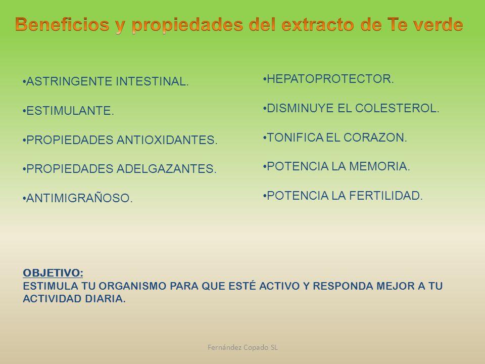 Beneficios y propiedades del extracto de Te verde