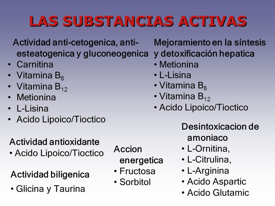 LAS SUBSTANCIAS ACTIVAS