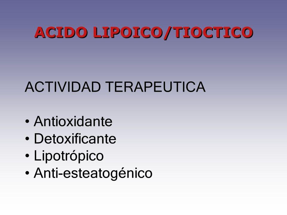 ACIDO LIPOICO/TIOCTICO