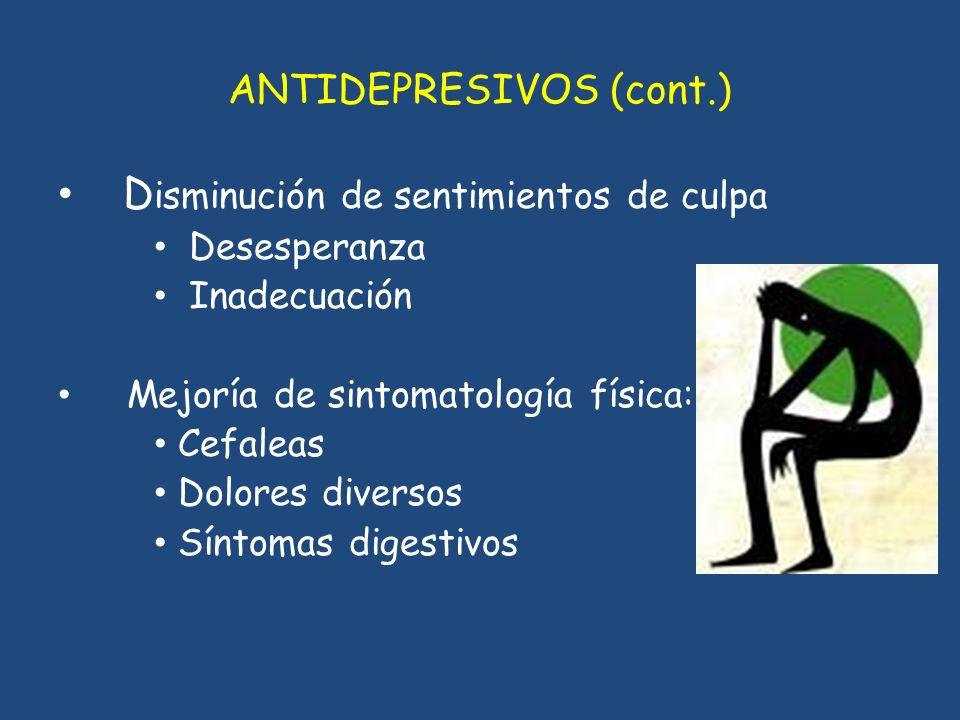 ANTIDEPRESIVOS (cont.)