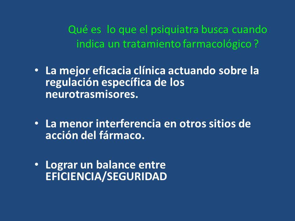 La menor interferencia en otros sitios de acción del fármaco.