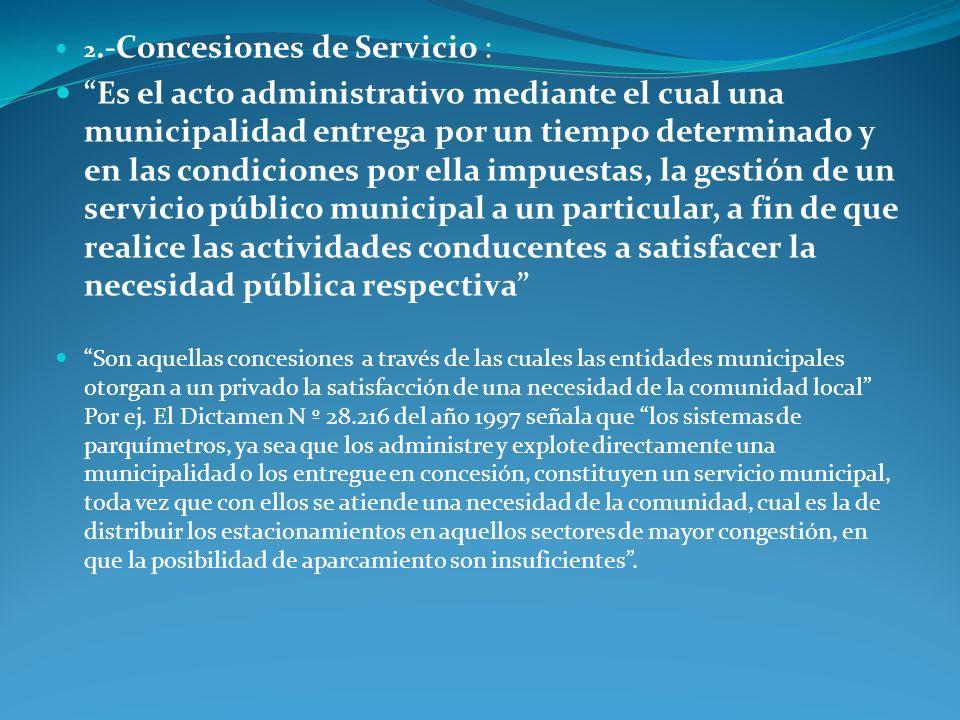 2.-Concesiones de Servicio :