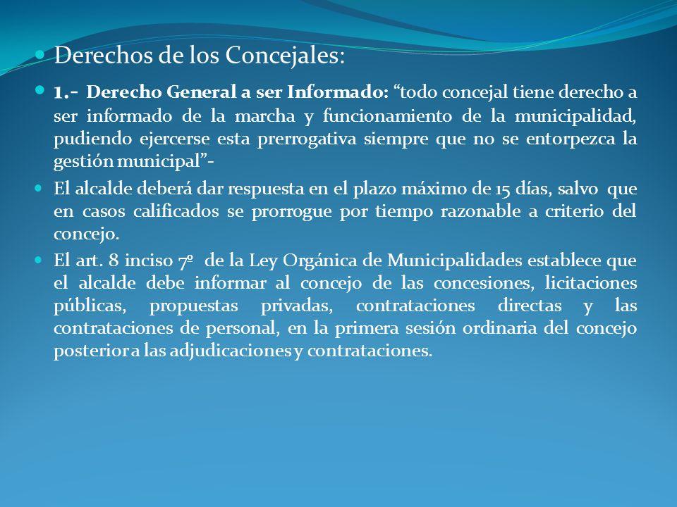 Derechos de los Concejales: